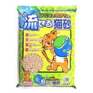 ひのきとおからの流せる猫砂 8L|ebisupet