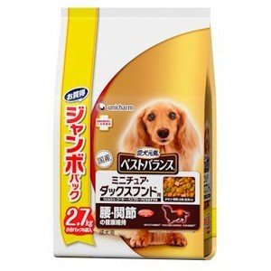 愛犬元気 ベストバランス ミニチュア・ダックスフンド ジャンボパック 2.7kg ebisupet