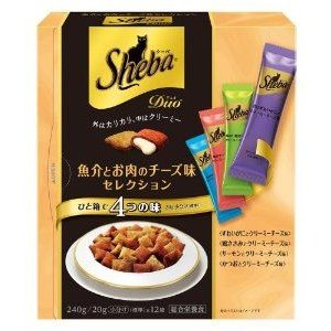 シーバデュオ 魚介とお肉のチーズ味セレクション 240g(20g×12袋入り)賞味期限2019.5|ebisupet