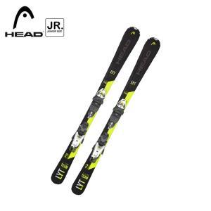 ヘッド ジュニアスキービンディング2点セット V-SHAPE TEAM スキー板 金具付き 314229 アルペンスキー 子供 ALPINESALE|ebisuya-sp