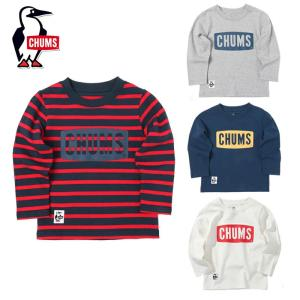 メール便配送 チャムス キッズ ボートロゴ ロングTシャツ CH21-1066 子供 長袖|ebisuya-sp