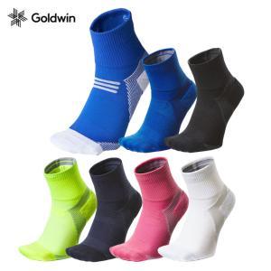 【メール便配送】ゴールドウィン シースリーフィット ソックス アーチサポート クォーターソックス GC20301 ユニセックス メンズ レディース ランニング 靴下 ebisuya-sp
