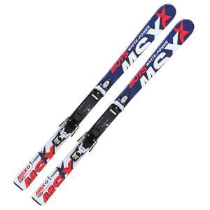 スワロー ジュニア スキービンディング 2点セット MSX BOYS ネイビー スキー板 金具付き 120/130/140/150cm アルペンスキー 子供 ALPINESALE|ebisuya-sp