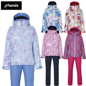 phenix フェニックス ガールズスキーウェア ジュニア PS8H22P90 スノークリスタルガールズツーピース 小学生 中学生子供 女の子|ebisuya-sp