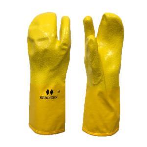 メール便配送 SPRINGRNトリガーミトン スプリンゲン ポリウレタン製防寒防水手袋 一般用イエロー|ebisuya-sp