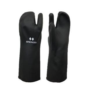 メール便配送 SPRINGRN トリガーミトン スプリンゲン ポリウレタン製 防寒防水手袋  一般用 ブラック|ebisuya-sp