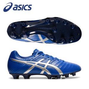アシックス サッカー スパイクシューズ DS LIGHT 3 WD TSI753 400(ASICS BLUE/SILVER) 足幅ワイド 部活 フットボール|ebisuya-sp