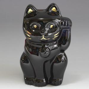 バカラ  Baccarat フィギュア 招き猫 オーナメント ミッドナイト 2607787|ebsya