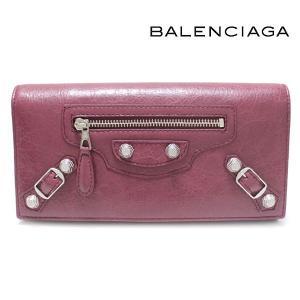 バレンシアガ BALENCIAGA 財布 長財布 GIANT CONTINENTAL ジャイアントコンチネンタル カシス/ボルドー 253054 D940N 6255|ebsya