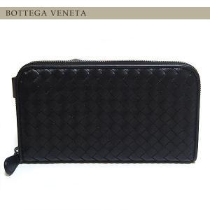 BOTTEGA VENETA ボッテガ ヴェネタ 財布 長財布 ラウンドファスナー ブラック 114076 V001N 1000|ebsya