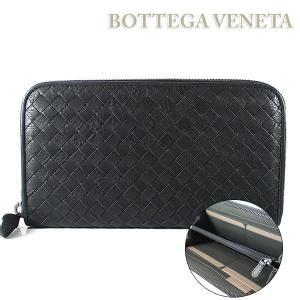 ボッテガ ヴェネタ BOTTEGA VENETA 財布 長財布 ラウンドファスナー ウォッシュド ビンテージ ネロ/ニューライトグレー 114076 VBD51 8885|ebsya