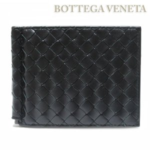 ボッテガ ヴェネタ BOTTEGA VENETA ボッテガベネタ マネークリップ付き 二つ折り財布 札ばさみ 123180 V4651 1000|ebsya