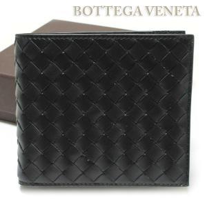 ボッテガヴェネタ BOTTEGA VENETA 財布 二つ折財布 ブラック  193642-V4651-1000|ebsya