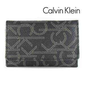 カルバンクライン CK 6連キーケース メンズ CalvinKlein モノグラム ブラック 79464 BLK|ebsya