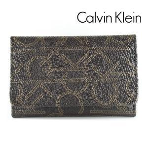 カルバンクライン CK 6連キーケース メンズ CalvinKlein モノグラム ブラウン 79464 CHO|ebsya