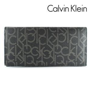 カルバンクライン CK 長財布 メンズ 財布 CalvinKlein モノグラム ブラック 79467 BLK|ebsya