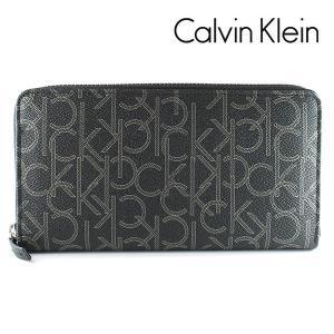 カルバンクライン CK 長財布 ラウンドファスナー CalvinKlein モノグラム ブラック 79468 BLK|ebsya