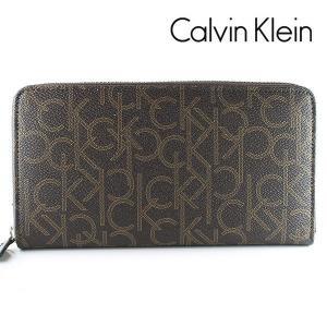 カルバンクライン CK 長財布 ラウンドファスナー CalvinKlein モノグラム ブラウン 79468 CHO|ebsya