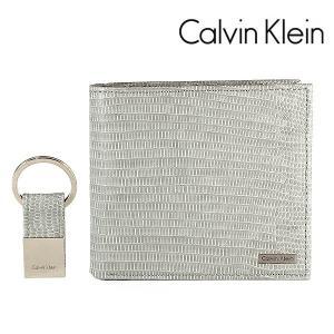 カルバンクライン CK 二つ折り財布 キーリング ギフトセット CalvinKlein グレー ミスト  79518 MST|ebsya
