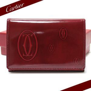 カルティエ Cartier カードケース Happy Birthday ハッピーバースデー 名刺入れ ボルドー L3000447|ebsya