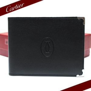 カルティエ財布Cartier折財布カルティエ カボション 2つ折財布(小銭入れ付) ブラック L3000595|ebsya