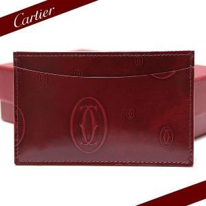 カルティエ Cartier カードケース Happy Birthday ハッピーバースデー カー 名刺入れ ボルドー L3000781|ebsya
