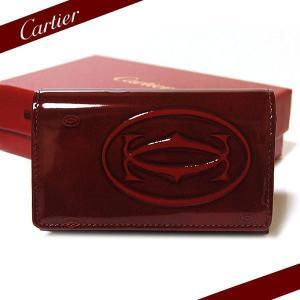 カルティエ Cartier 6連キーケース ハッピーバースデー ボルドー L3000929|ebsya