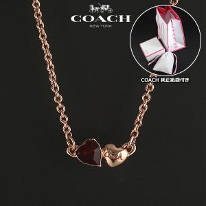 コーチ COACH  ダブルハート ネックレス ペンダント レディース 96704 RS/RD|ebsya