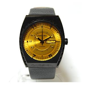 ディーゼル DIESEL 腕時計 メンズウォッチ レザーバンド イエロー文字盤 dz1183|ebsya