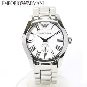 エンポリオ アルマーニ EMPORIO ARMANI 腕時計 クラシック スモールセコンド シルバー メンズ AR0647|ebsya