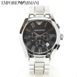 エンポリオ アルマーニ EMPORIO ARMANI 腕時計 クラシック クロノグラフ ブラック メンズ AR0673|ebsya