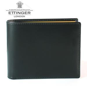 エッティンガー ETTINGER 二つ折り財布 メンズ ブライドルレザー BH 141JR BLACK ブラック|ebsya