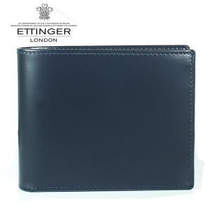 エッティンガー ETTINGER 二つ折り財布 メンズ ブライドルレザー BH 141JR NAVY ネイビー|ebsya