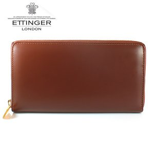 エッティンガー ETTINGER 長財布 メンズ ラウンドファスナー BH 2051EJR HAVANA ハバナ ブライドルレザー|ebsya