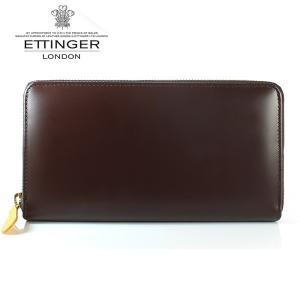 エッティンガー ETTINGER 長財布 メンズ ラウンドファスナー BH 2051EJR NUT ナッツ ブライドルレザー|ebsya