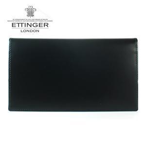 エッティンガー ETTINGER 長財布 メンズ ブライドルレザー 小銭入れナシ BH 806AJR BLACK ブラック|ebsya