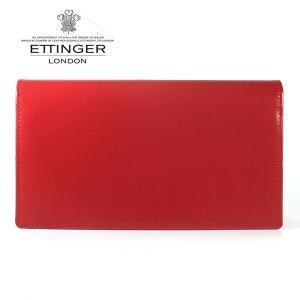 エッティンガー ETTINGER 財布 メンズ 長財布 ブライドルレザー 小銭入れナシ BH 806AJR RED レッド|ebsya