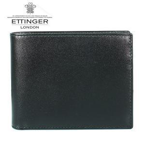 エッティンガー ETTINGER 二つ折り財布 メンズ ロイヤルコレクション ST 141JR BLACK ブラック×パープル|ebsya