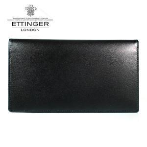 エッティンガー ETTINGER 長財布 メンズ ロイヤルコレクション 小銭入れナシ ST 806AJR PURPLE ブラック×パープル|ebsya