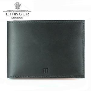 エッティンガー ETTINGER 財布 メンズ 二つ折り財布 TTコレクション ブラック×タン TT003 BLACK TAN|ebsya