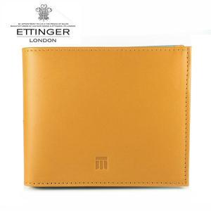 エッティンガー ETTINGER 財布 メンズ 二つ折り財布 TTコレクション ×スカイブルー TT003 TAN SKY BLUE|ebsya