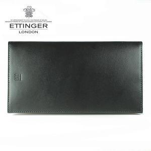 エッティンガー ETTINGER 財布 メンズ 長財布 小銭入れなし TTコレクション ブラック×タン TT004 BLACK TAN|ebsya