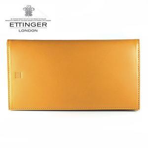 エッティンガー ETTINGER 財布 メンズ 長財布 小銭入れなし TTコレクション タン×スカイブルー TT004 TAN SKY BLUE|ebsya