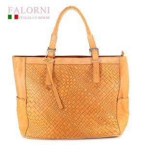 ファロルニ Falorni ビジネストートバッグ イントレチャート ラムスキン 735/U RESSY ARANCIO オレンジ|ebsya