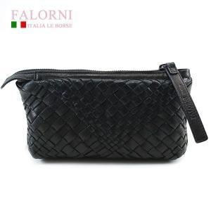 ファロルニ Falorni ポーチ バッグ ラムスキン AC104 LEATHER BAG NERO ブラック|ebsya