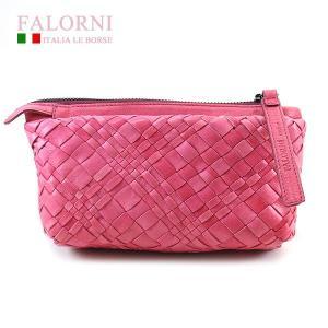 ファロルニ Falorni ポーチ バッグ ラムスキン AC104 LEATHER BAG ROSA ピンク|ebsya