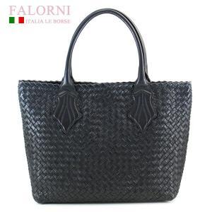 ファロルニ Falorni トートバッグ カーフスキン 編み込み イントレチャート F362/MOD TOTE BAG MEDIUM ミディアムサイズ BRACK ブラック|ebsya