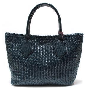 ファロルニ Falorni トートバッグ カーフスキン 編み込み イントレチャート F362/MOD TOTE BAG MEDIUM ミディアムサイズ BLUE/VERDE ブルー|ebsya