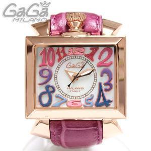 ガガミラノ GaGa Milano 腕時計 自動巻き NAPOLEONE ナポレオーネ 48MM  PVD ピンクゴールド マルチ/ピンクレザー レディース 6001.1|ebsya