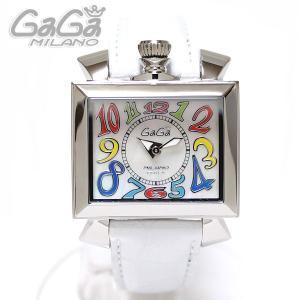 ガガミラノ GaGa Milano 腕時計 NAPOLEONE ナポレオーネ 40MM マルチ/ホワイトレザー レディース 6030.1|ebsya